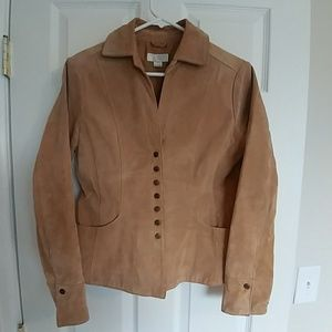Washable Suede Leather Jacket - Size Small